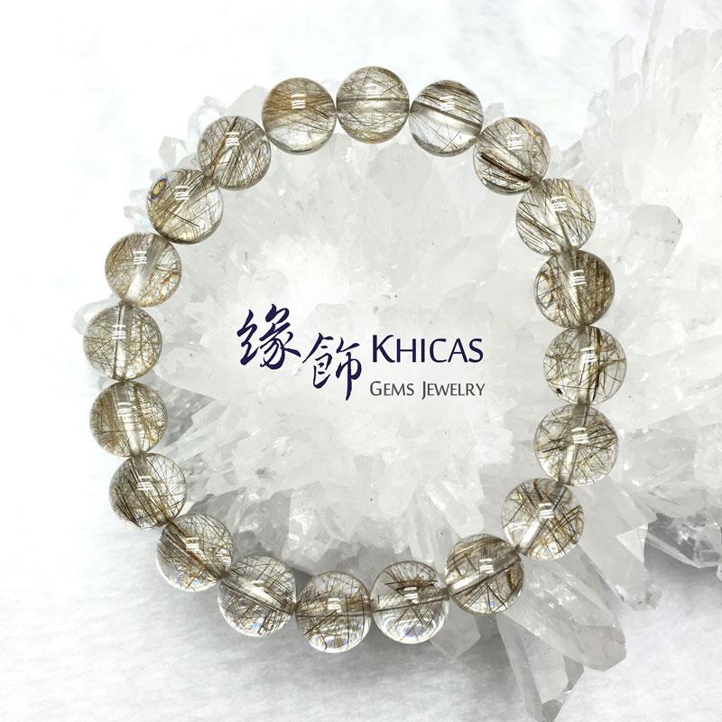 巴西 2A+ 銀髮晶圓珠手串 10mm KH141132 @ Khicas Gems 緣飾
