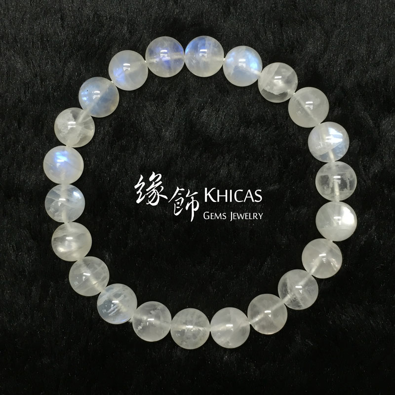 巴西 3A+ 月亮石手串 9mm MoonStone KH141164 Khicas Gems 緣飾