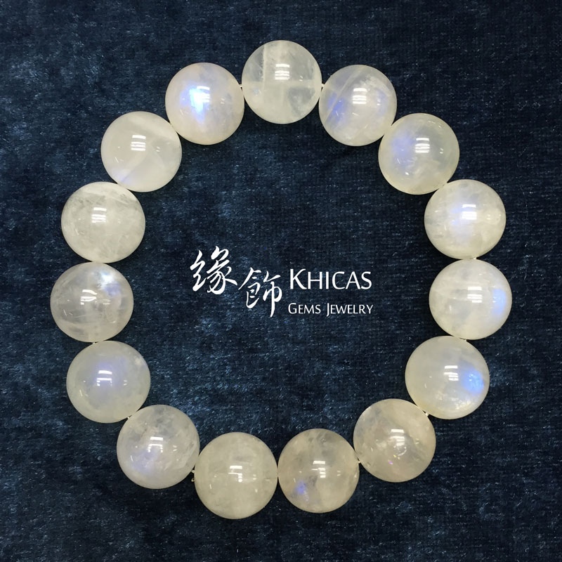 巴西 3A+ 月亮石手串 15mm Moonstone KH141172 by Khicas Gems 緣飾