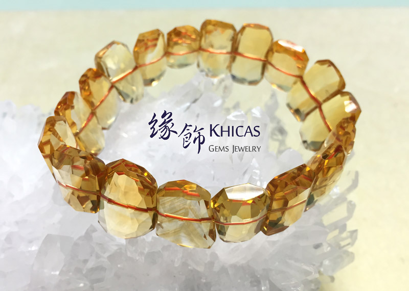 5A+ 巴西黃晶切割手排 20mm x 13mm KH141193 Khicas Gems 緣飾