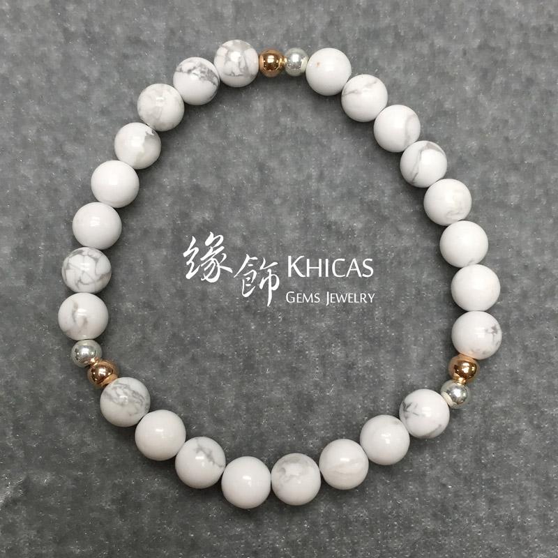 白松石手串 6mm 配 925 銀飾 KH141201 Khicas Gems 緣飾