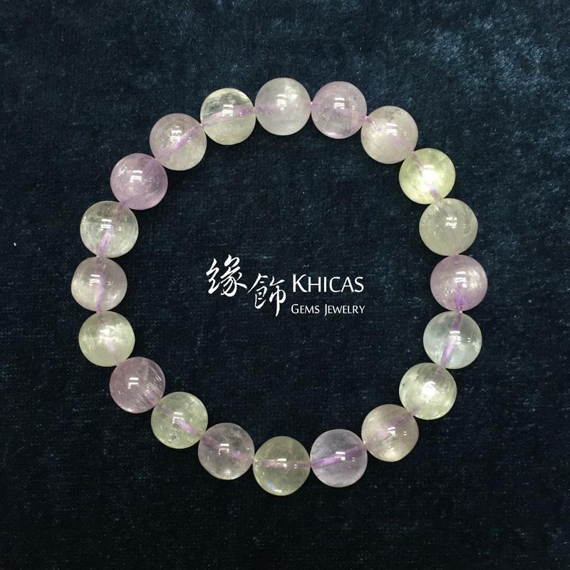 4A+ 巴西紫鋰輝手串 10mm Kunzite KH141206 Khicas Gems 緣飾