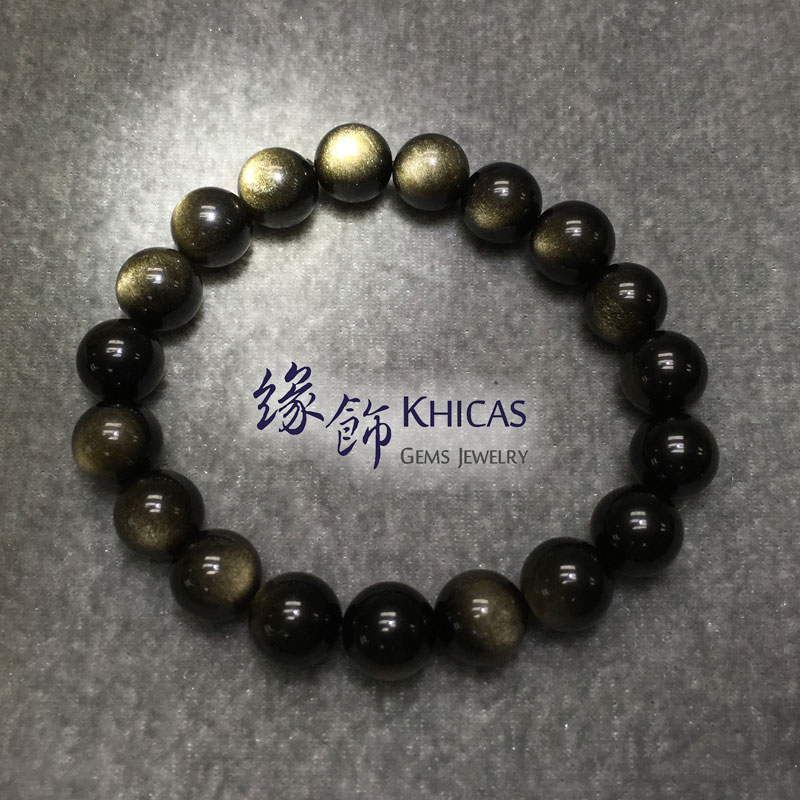 墨西哥金曜石手串 10mm KH141236 @ Khicas Gems 緣飾