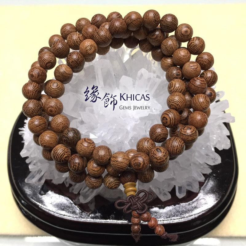 雞翅木 108 念珠手串 8mm KH141242 Khicas Gems 緣飾
