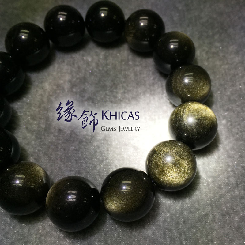 墨西哥金曜石手串 16mm KH141258 @ Khicas Gems 緣飾