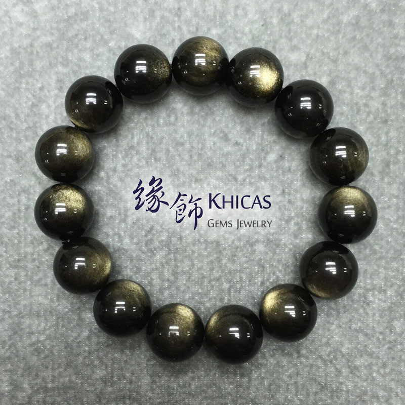 墨西哥金曜石手串 14mm KH141272 @ Khicas Gems 緣飾
