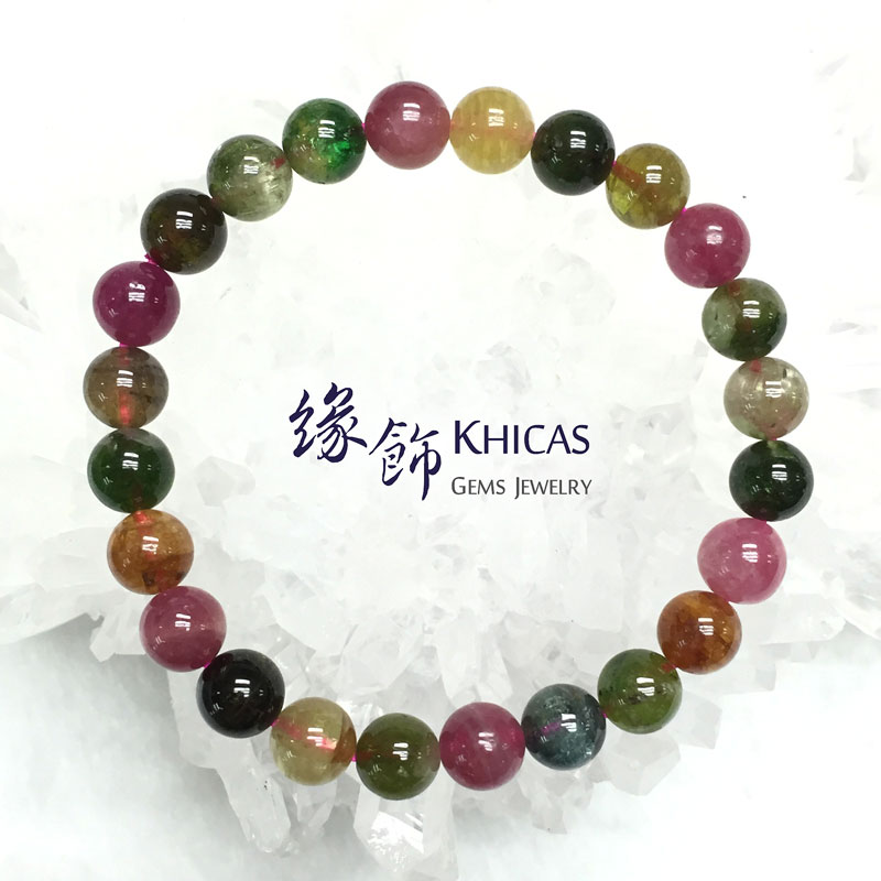 巴西 4A+ 糖果碧璽手串 7.5mm Tourmaline KH141273 @ Khicas Gems 緣飾