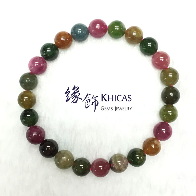 巴西 4A+ 糖果碧璽手串 8mm Tourmaline KH141274 @ Khicas Gems 緣飾