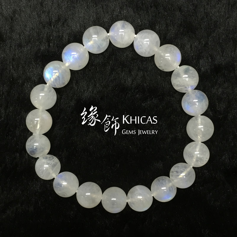 巴西彩光月亮石手串 10mm MoonStone KH141329 by Khicas Gems 緣飾