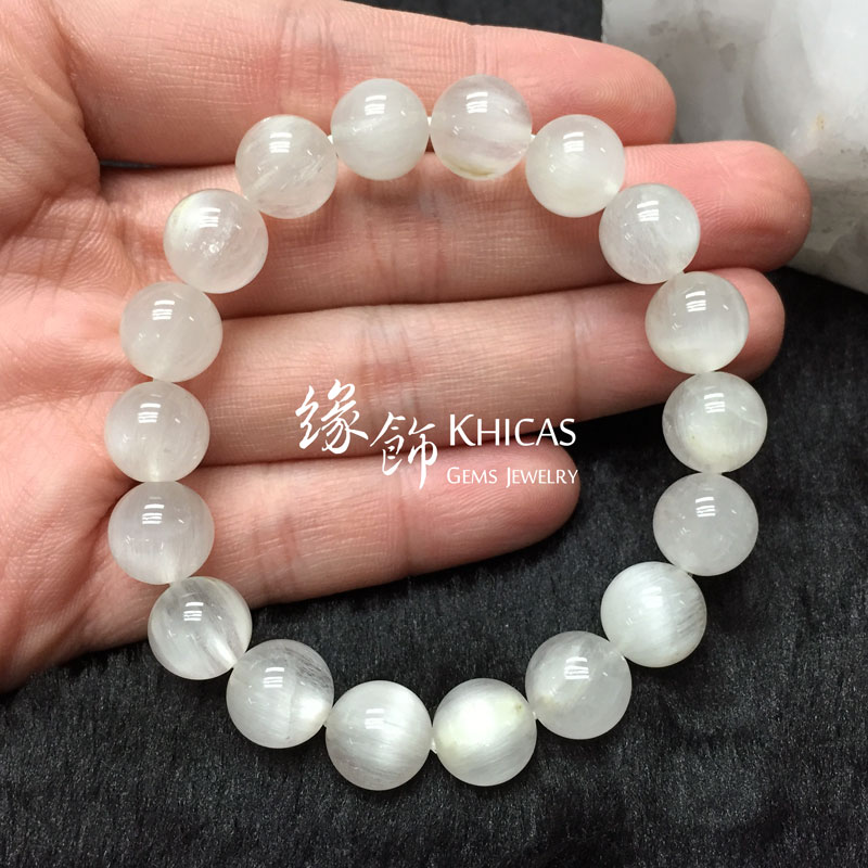 巴西 4A+ 兔毛白髮晶手串 10.5mm White Rutilated Quartz KH141383 @ Khicas Gems 緣飾