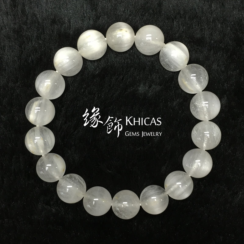巴西 4A+ 兔毛白髮晶手串 11mm White Rutilated Quartz KH141384 @ Khicas Gems 緣飾