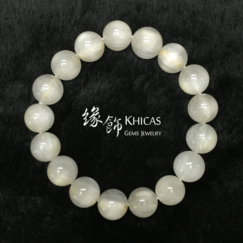 巴西 4A+ 兔毛白髮晶手串 12mm White Rutilated Quartz KH141385 @ Khicas Gems 緣飾