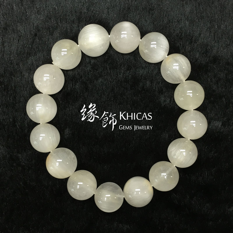 巴西 4A+ 兔毛白髮晶手串 13mm White Rutilated Quartz KH141386 @ Khicas Gems 緣飾