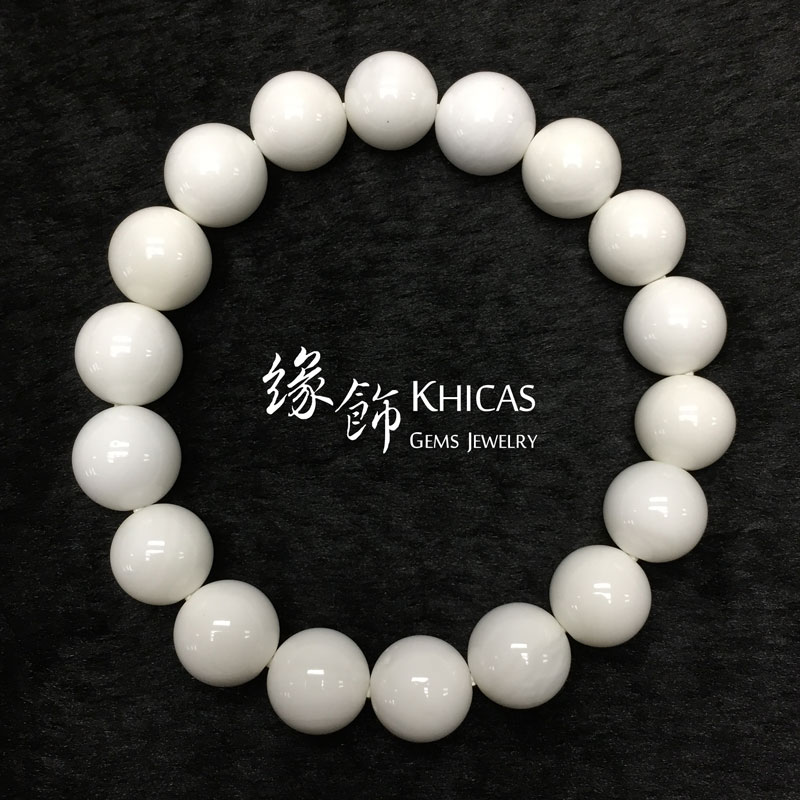 5A+ 白硨磲手串 10mm Tridacna KH141398 @ Khicas Gems 緣飾