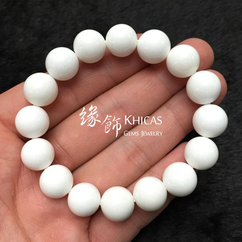 5A+ 白硨磲手串 12mm Tridacna KH141399 @ Khicas Gems 緣飾