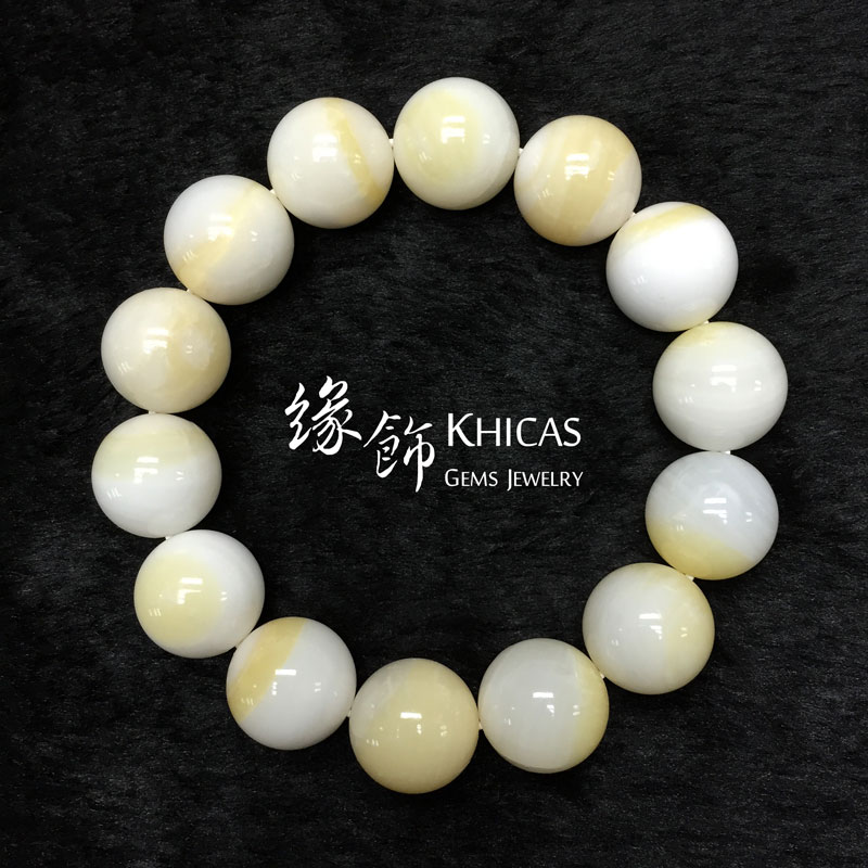 5A+ 金絲硨磲手串 14mm Tridacna KH141406 @ Khicas Gems 緣飾