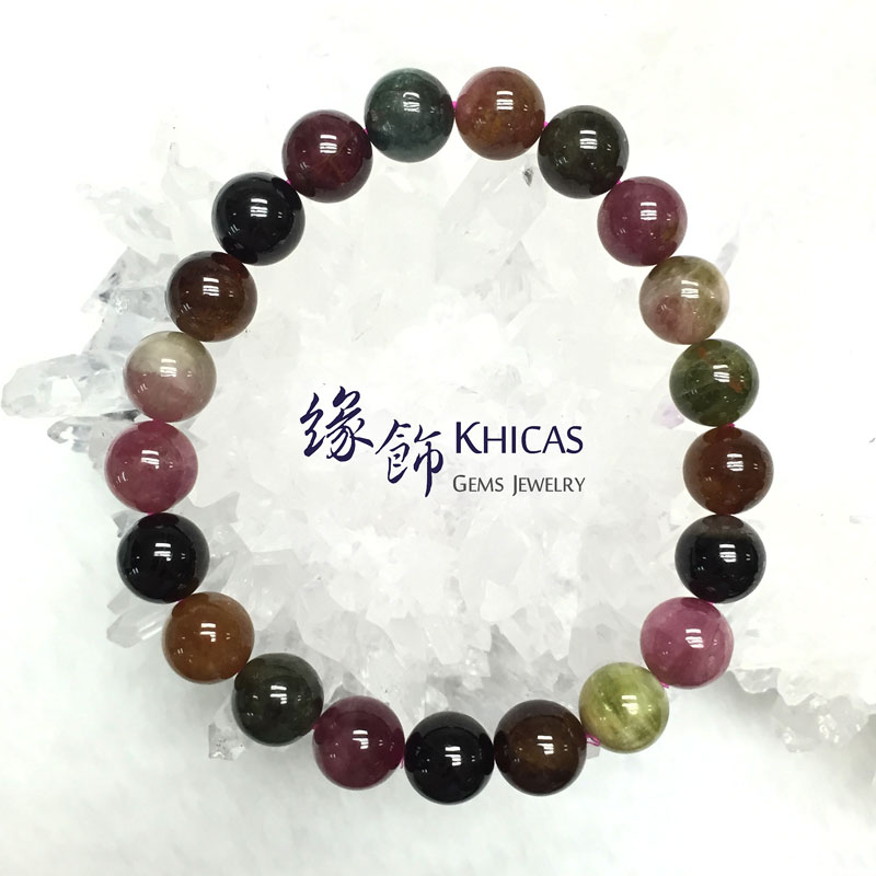 巴西 2A+ 彩碧璽手串 9mm Tourmaline KH141414 @ Khicas Gems 緣飾