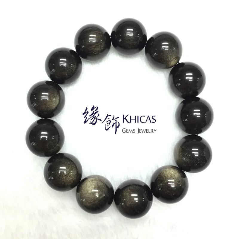 墨西哥金曜石手串 18mm KH141438 @ Khicas Gems 緣飾