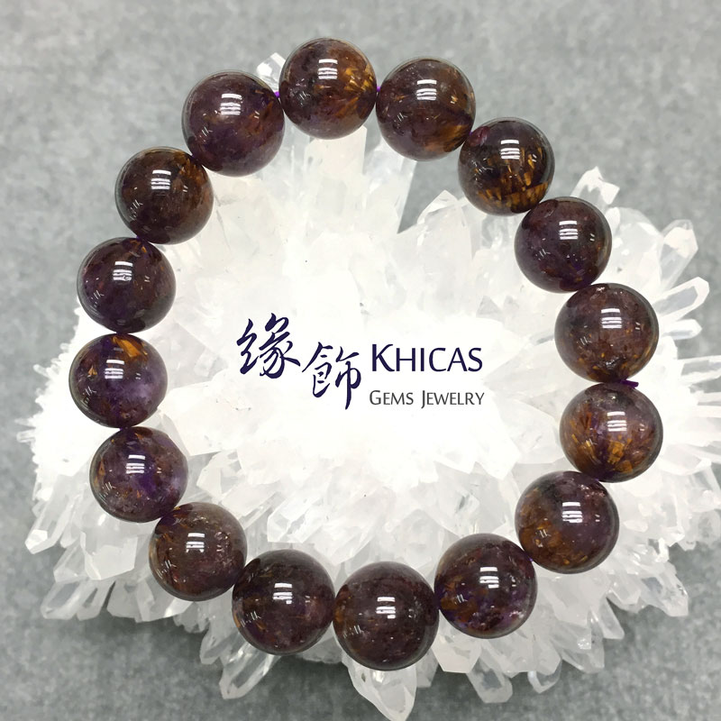 巴西5A+紫鈦晶手串 13mm KH141453 @ Khicas Gems 緣飾