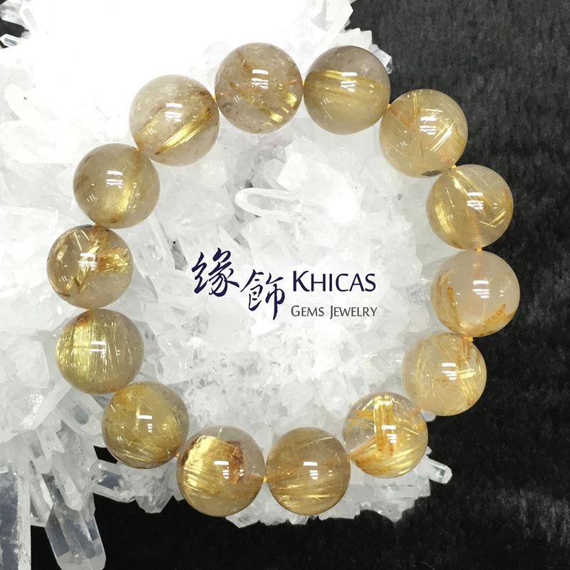 3A+ 巴西金髮晶手串 15.5mm KH141467 Khicas Gems 緣飾