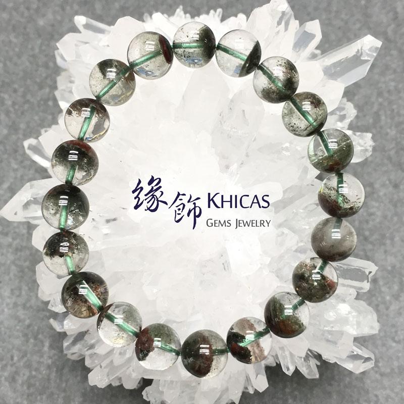 巴西 3A+ 綠幽靈手串 10mm KH141470 Khicas Gems 緣飾