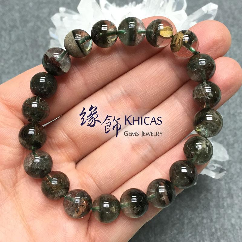 巴西 3A+ 綠幽靈手串 10mm KH141471 Khicas Gems 緣飾