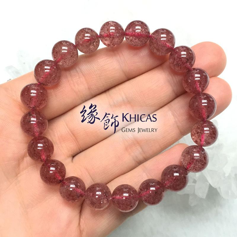 俄羅斯 5A+ 草莓晶手串 10.4mm KH141487 @ Khicas Gems 緣飾