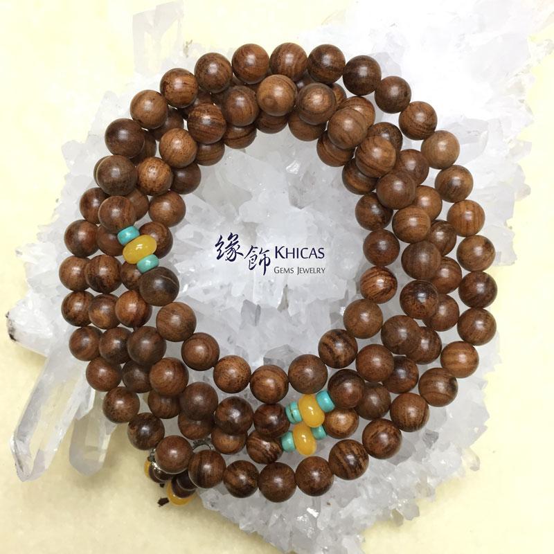 印尼虎斑紋花奇楠沉香 8mm 108 念珠 KH141505 Khicas Gems 緣飾