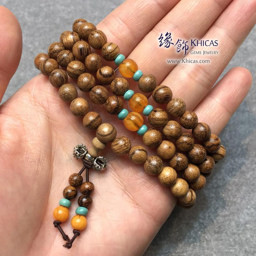 印尼虎斑紋花奇楠沉香 8mm 108 念珠 KH141505 Khicas Gems Jewelry 緣飾天然水晶