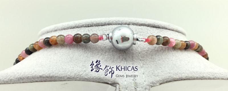 5A+ 巴西彩碧璽頸鍊 可作三圈手串 Tourmaline KH141506 @ Khicas Gems 緣飾