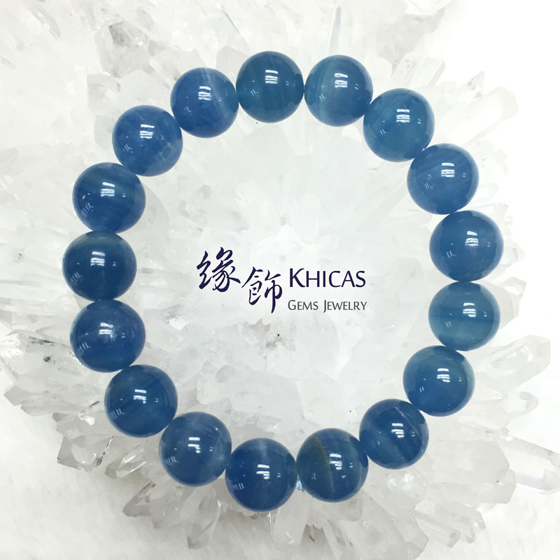 美國 3A+ 藍方解石手串 12mm Calcite Bracelet KH141510 @ Khicas Gems 緣飾