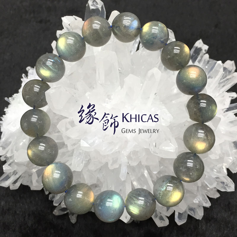 印度拉長石手串 12mm Labradorite KH141532 @ Khicas Gems 緣飾