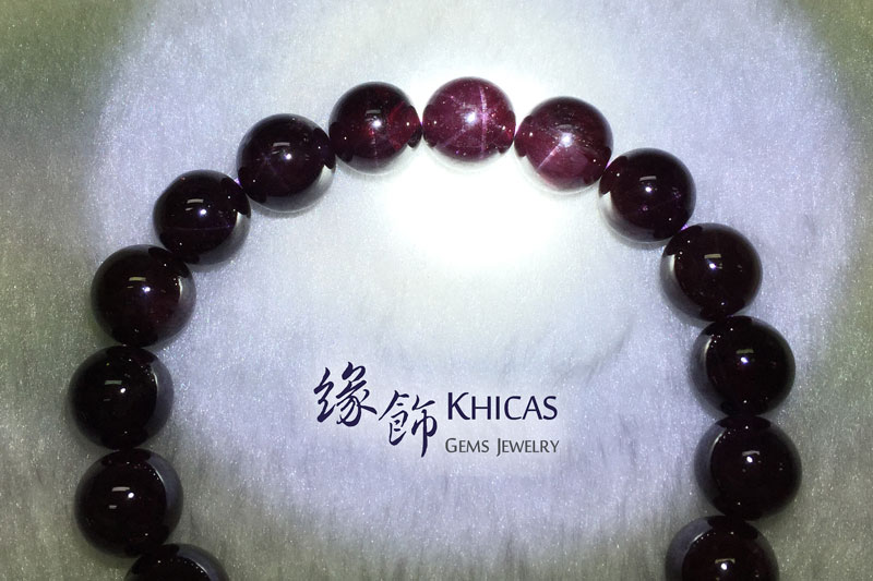 巴西 4A+ 星光石榴石手串 10mm Star Garnet KH141567 @ Khicas Gems 緣飾