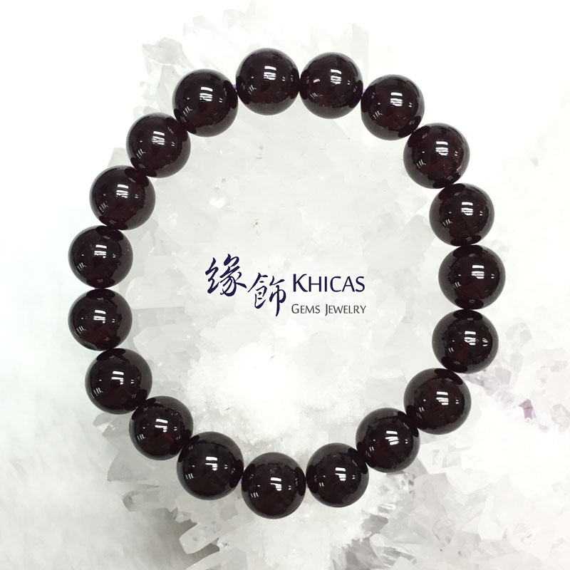 巴西 4A+ 星光石榴石手串 10mm Star Garnet KH141568 @ Khicas Gems 緣飾