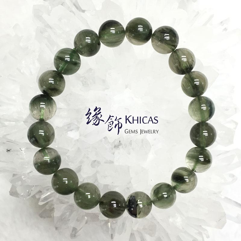 巴西 2A+ 綠髮晶手串 9.2mm Green Rutilated Quartz KH141574 Khicas Gems 緣飾