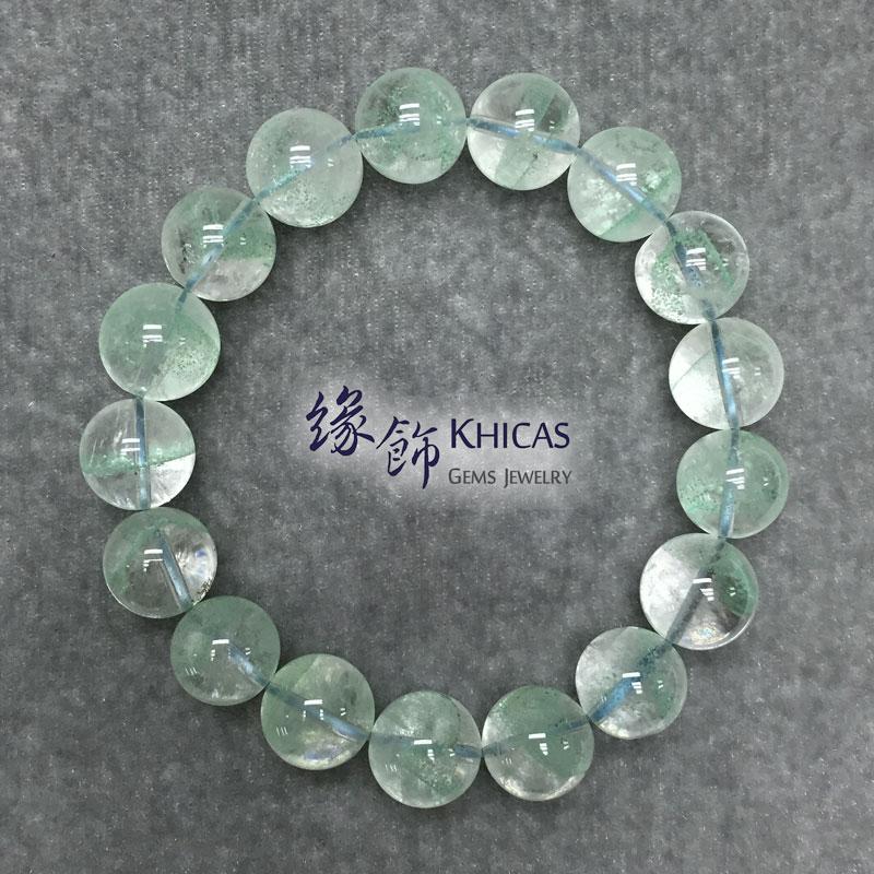 馬達加斯加 3A+ 翠綠幽靈手串 12.5mm Green Phantom KH141597 Khicas Gems 緣飾
