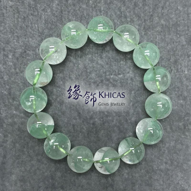 馬達加斯加 3A+ 翠綠幽靈手串 15mm Green Phantom KH141598 Khicas Gems 緣飾