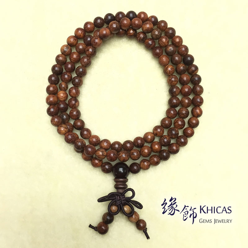花梨木 108粒佛珠手串 5mm KH141599 @ Khicas Gems 緣飾