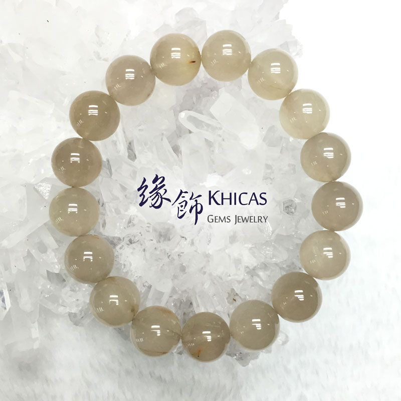 巴西 2A+ 兔毛白髮晶手串 12.5mm White Rutilated Quartz KH141601 @ Khicas Gems 緣飾