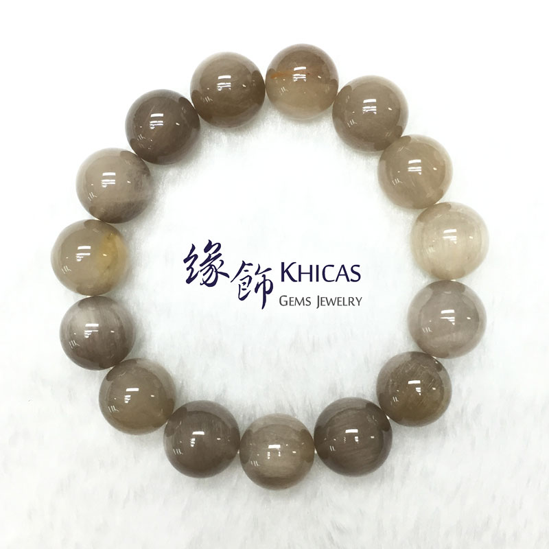 巴西 2A+ 兔毛白髮晶手串 14mm White Rutilated Quartz KH141602 @ Khicas Gems 緣飾