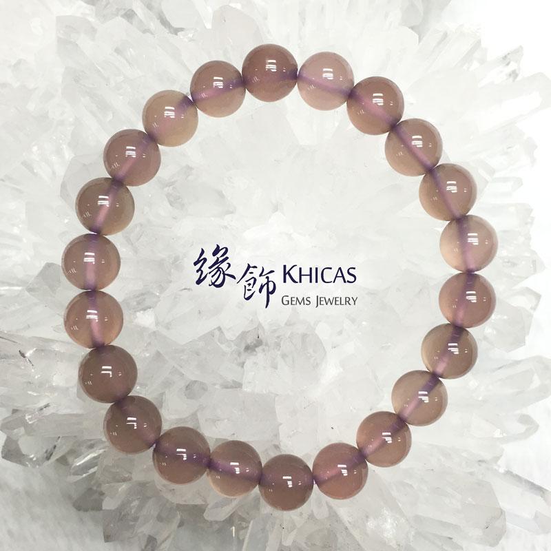 巴西紫玉髓 8mm Chalcedony KH141609 @ Khicas Gems 緣飾