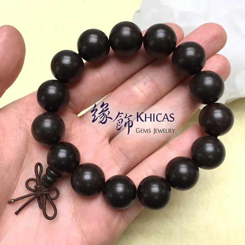 非洲黑檀木手串 15mm KH141615 @ Khicas Gems 緣飾