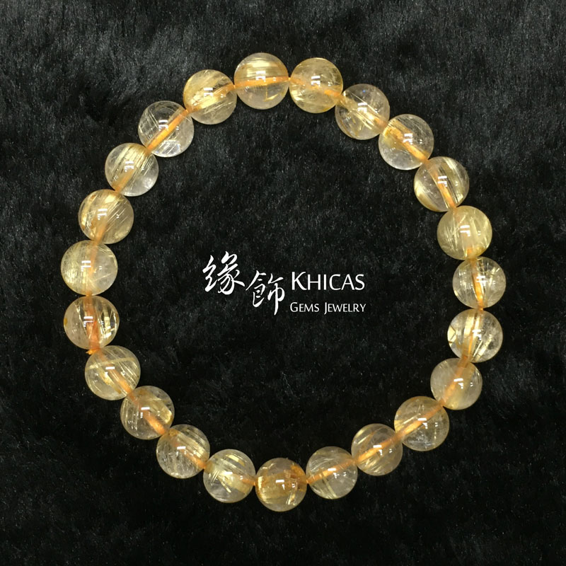 巴西 3A+ 金髮晶手串 8.5mm KH141633 @ Khicas Gems 緣飾
