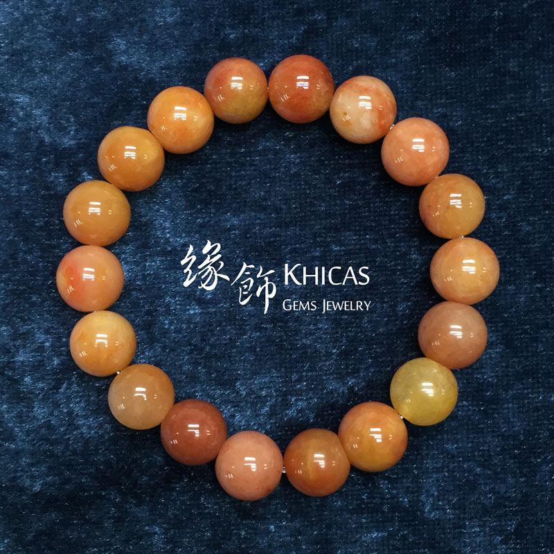 新疆紅種戈壁玉 10mm KH141687 @ Khicas Gems 緣飾