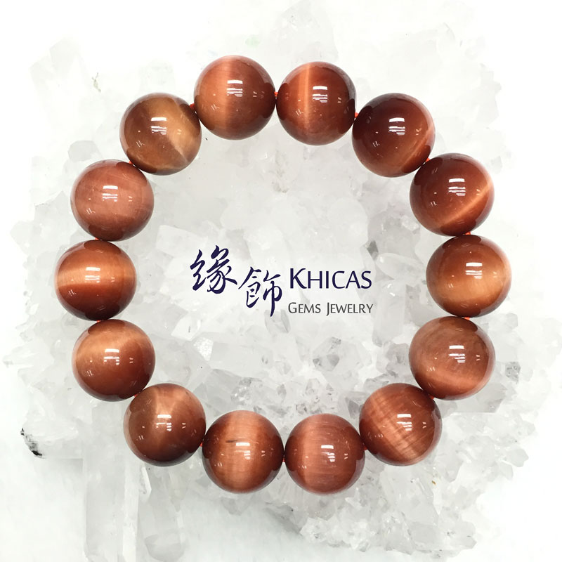 5A+ 南非太陽紅虎眼石手串 16mm KH141709 @ Khicas Gems 緣飾