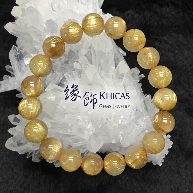 巴西 3A+ 金髮晶手串 11mm KH141716 @ Khicas Gems 緣飾