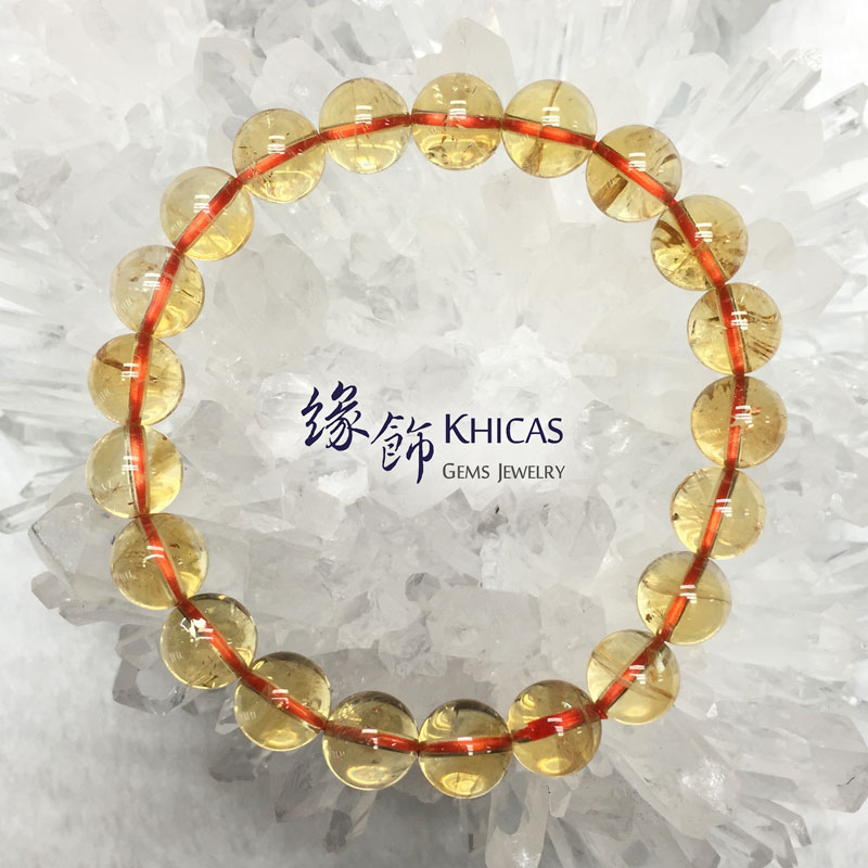 巴西 5A+ 黃晶手串 9.4mm Citrine KH141732 @ Khicas Gems 緣飾