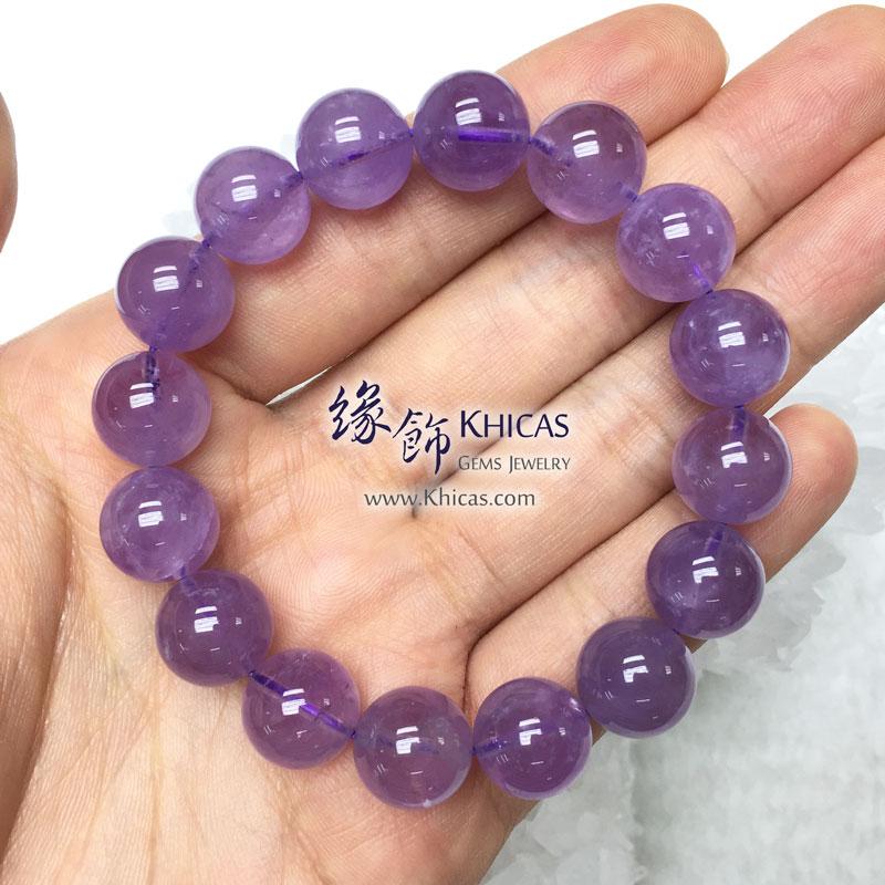 馬達加斯加 5A+ 薰衣草紫晶手串 12.2mm Lavender Amethyst KH141770 @ Khicas 緣飾天然水晶