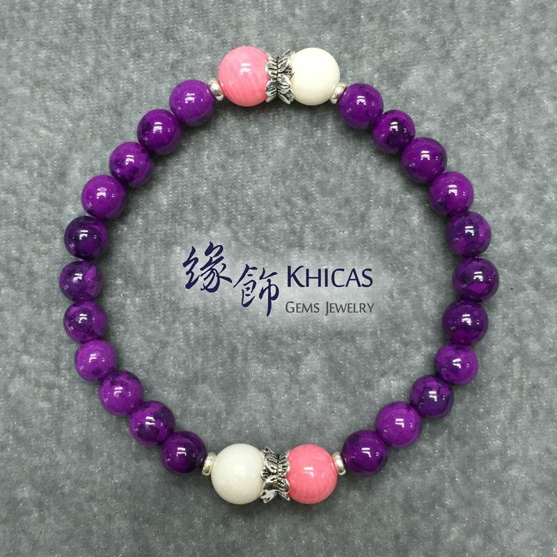 紫石手串 6mm 間海竹珊瑚 8mm KH141786 @ Khicas Gems 緣飾