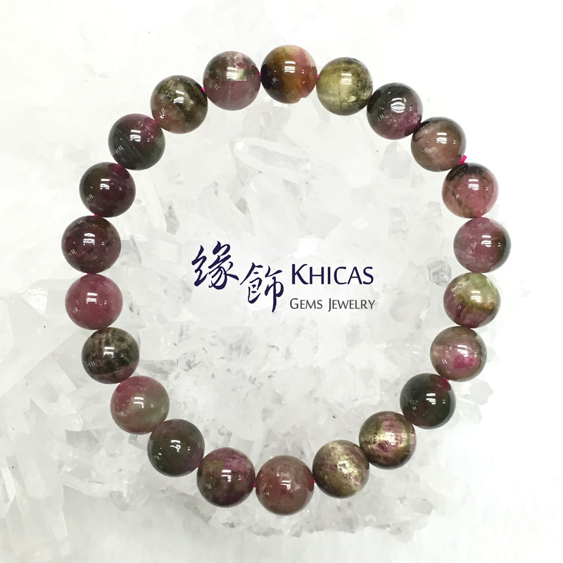 巴西 4A+ 貓眼西瓜碧璽手串 8.6mm Watermelon Tourmaline KH141799 @ Khicas Gems 緣飾